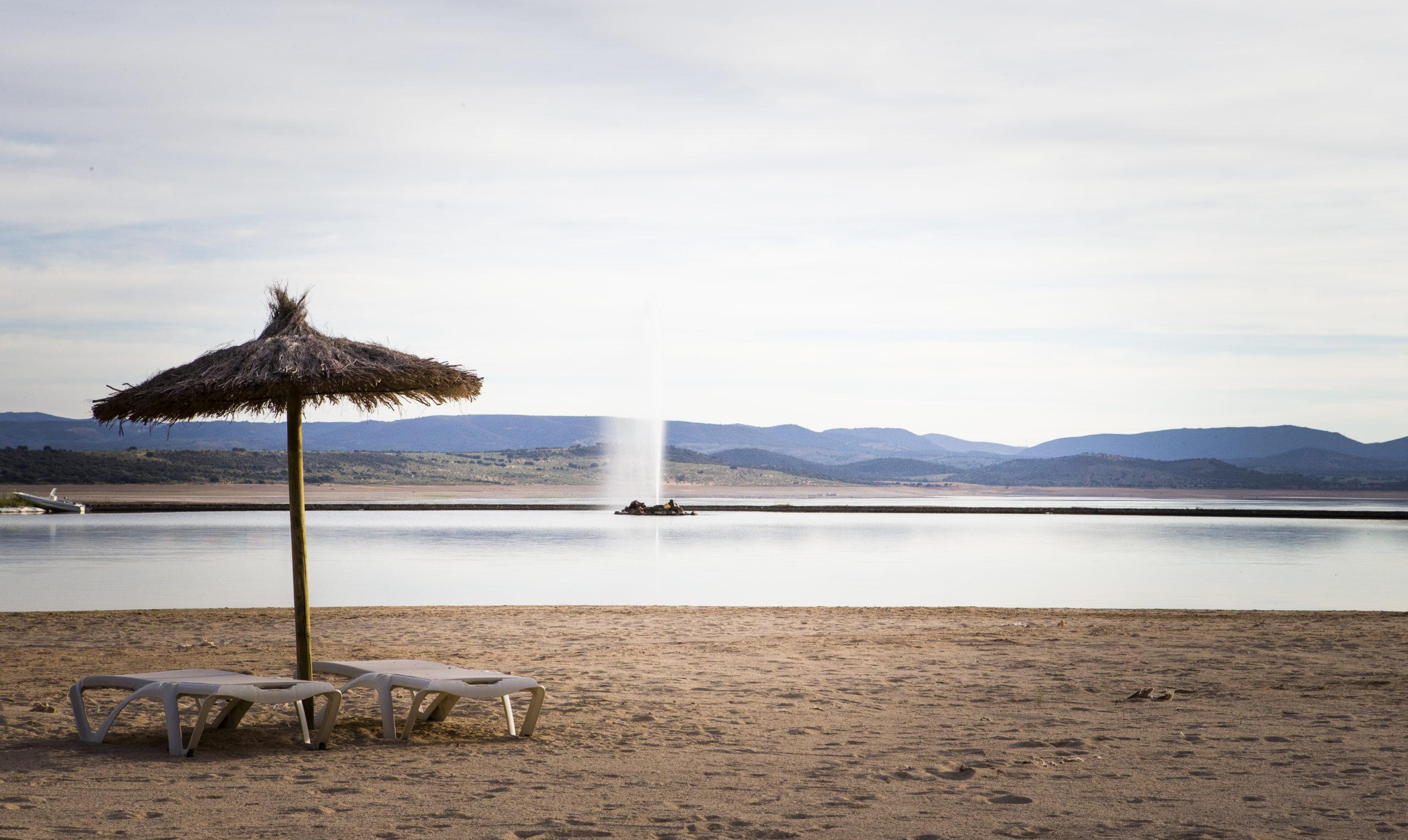 Playa artificial en Vincci Valdecañas