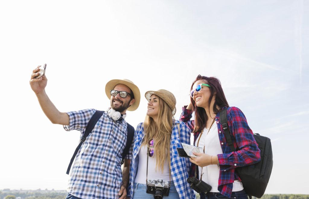 Selfie con amigos