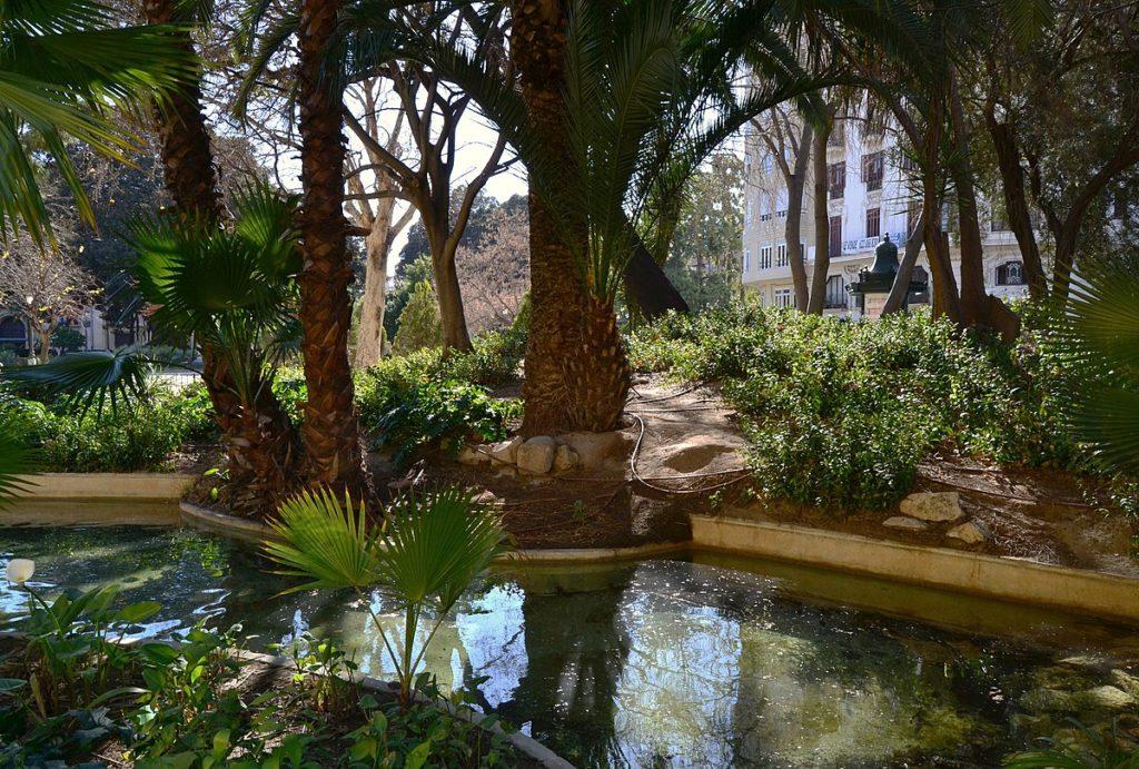 jardines de la glorieta en Valencia