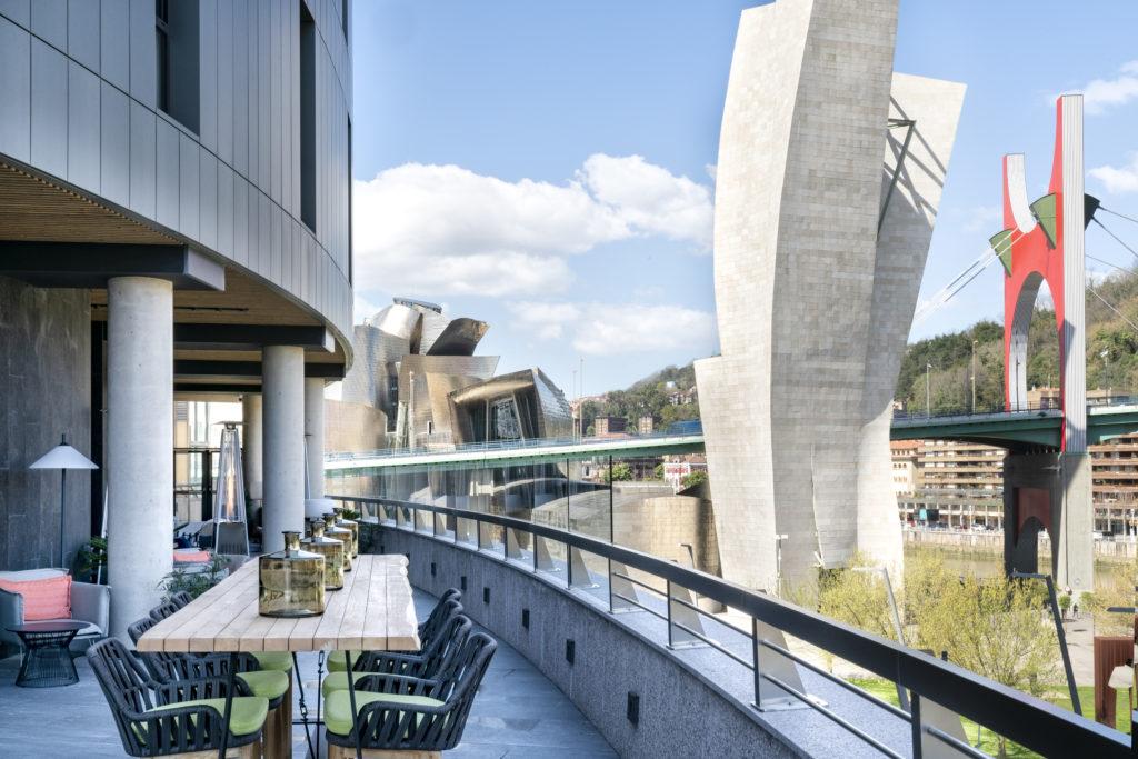 Terraza del hotel Vincci Consulado Bilbao 4*