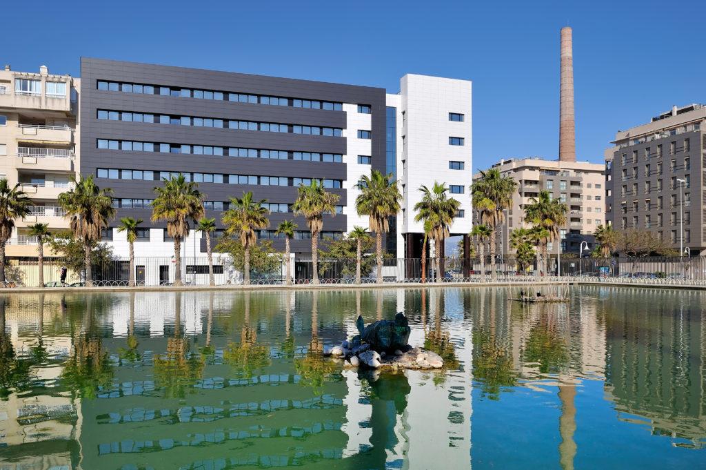 Fachada trasera del hotel Vincci Málaga 4*