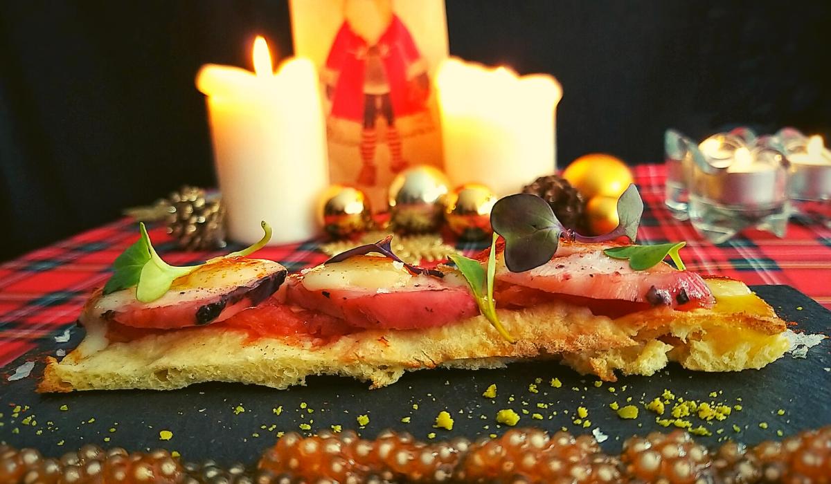 ¡Esta Navidad cocina con Vincci Hoteles! Receta de Coca de Pulpo, Queso de Tetilla y Caviar de Pimentón
