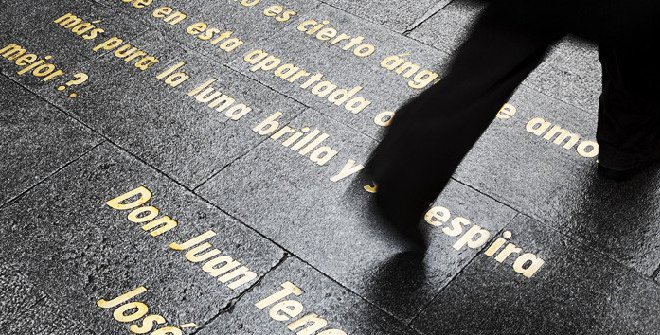 frase en el barrio de las letras de madrid