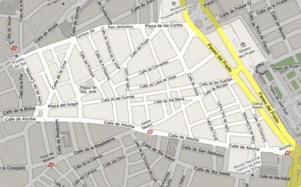 mapa barrio letras de madrid