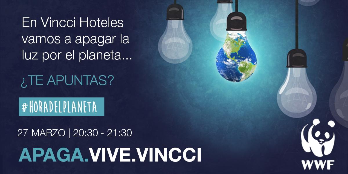 """Vincci Hoteles conecta un año más con la naturaleza en """"La Hora del Planeta"""""""