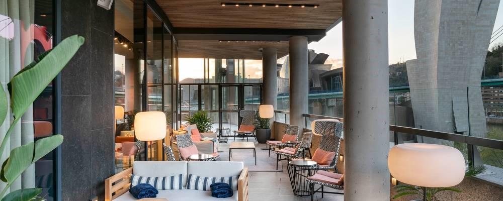 Terraza mirador del Hotel Vincci Consulado de Bilbao