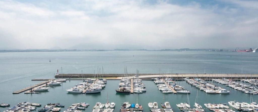 vistas a la zona marítima desde el hotel vincci