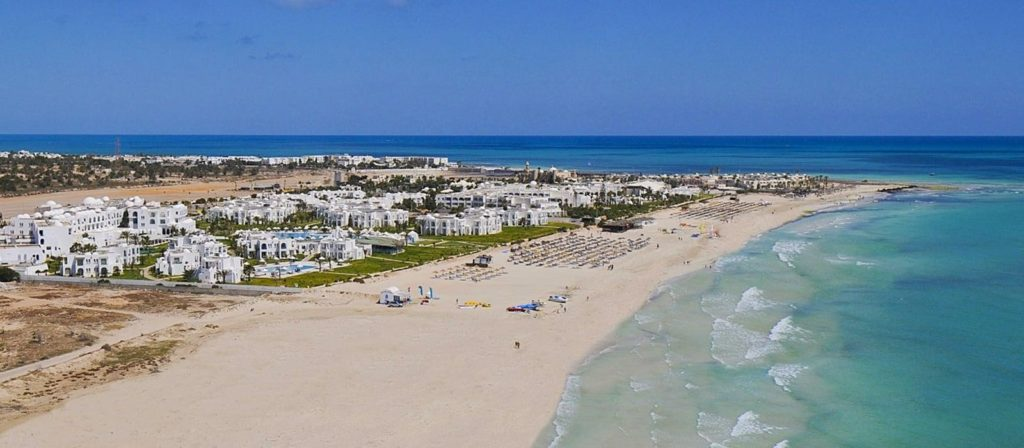 exterior del hotel vincci hélios beach en túnez