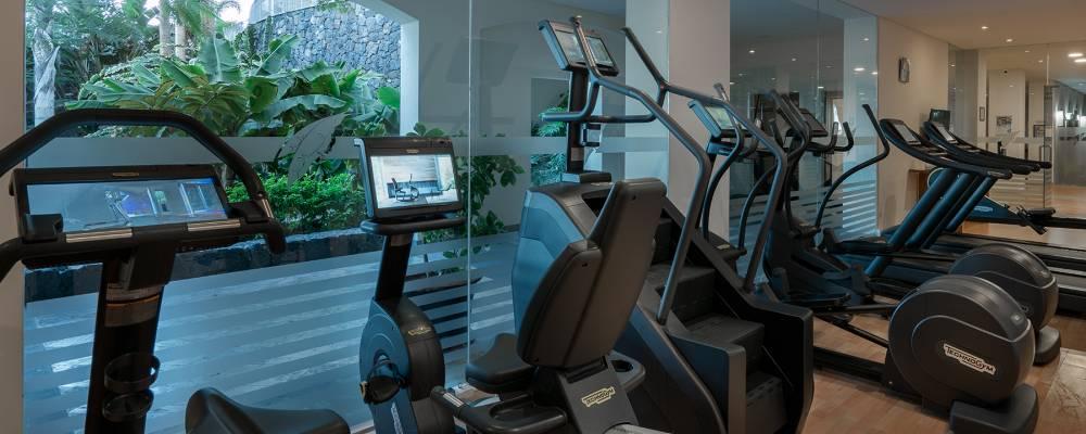 gimnasio en el hotel Vincci selección la plantación del sur en Tenerife