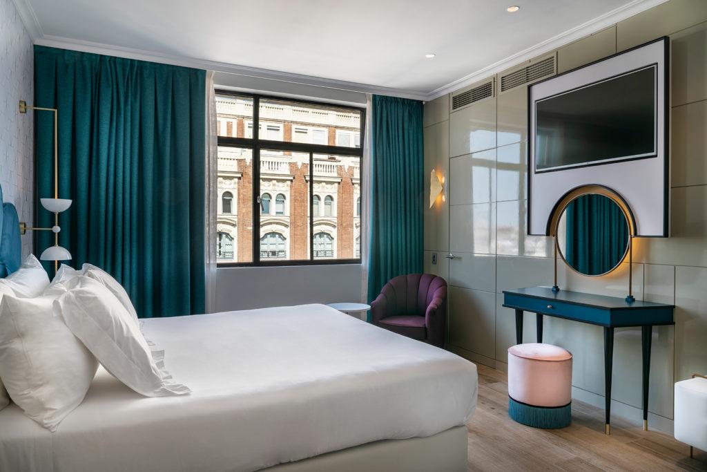 habitación del hotel Vincci Capitol en Madrid