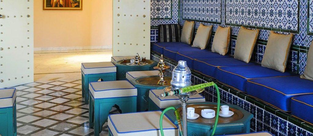 interior del hotel vincci helios beach en túnez