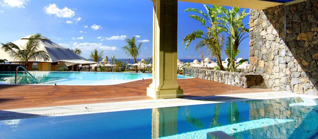 piscinas del hotel Vincci selección la plantación del sur en Tenerife