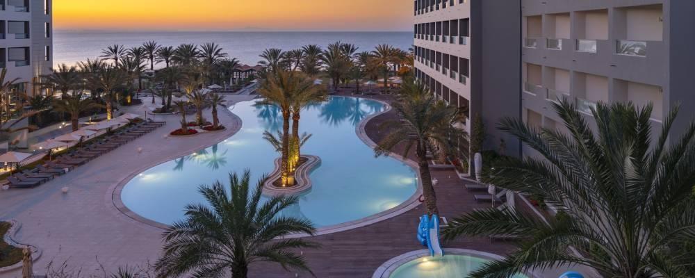 piscinas del hotel vincci rosa beach en túnez
