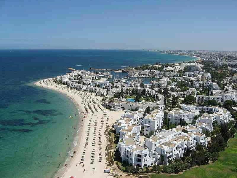 playa de susa en túnez