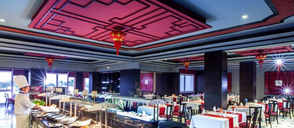 restaurante asiático tahini del hotel vincci marillia en túnez