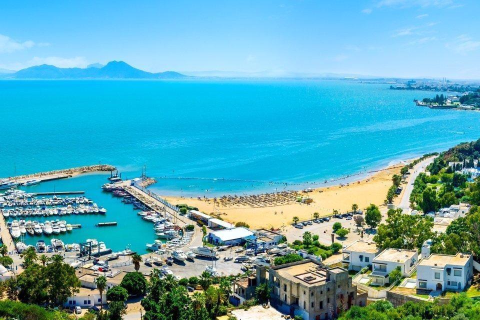 vistas a la playa sidi en túnez