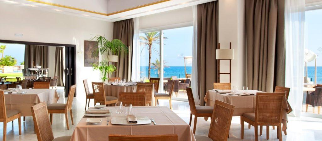 Restaurante de día del Club de Playa Estrella del Mar del hotel Vincci Posada del Patio