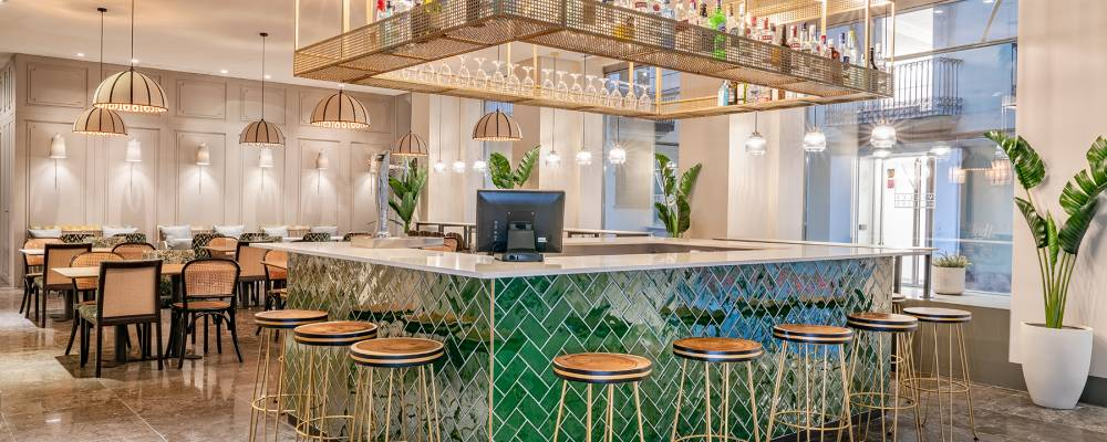 Bar Lounge del Hotel Vincci Palace 4 estrellas de Valencia