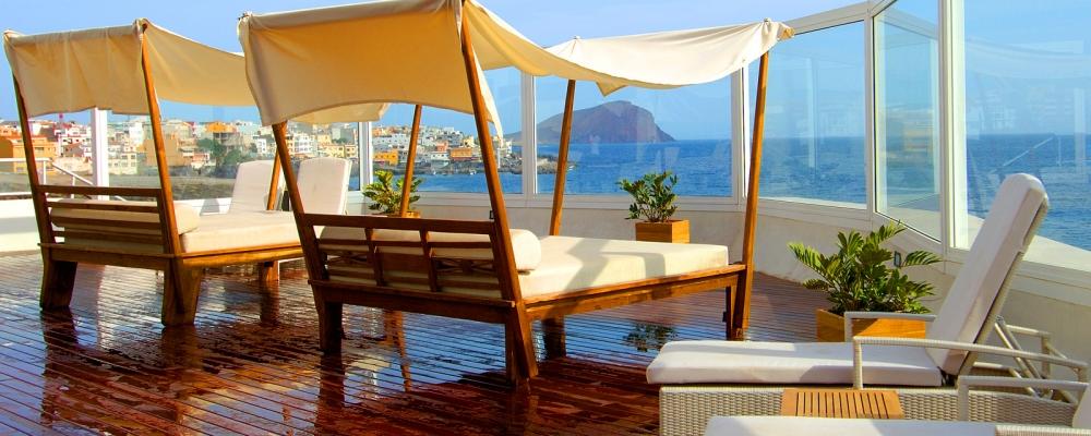Hamacas del hotel Vincci Tenerife Golf 4 estrellas