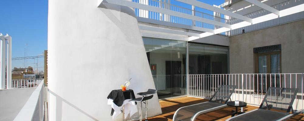Solarium del Hotel Vincci Palace 4 estrellas de Valencia