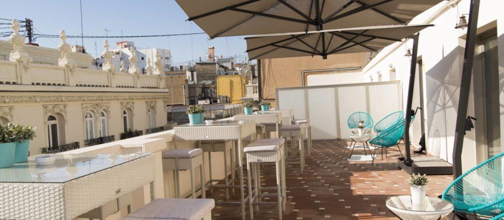 Terraza del Hotel Vincci Lys 4 estrellas de Valencia
