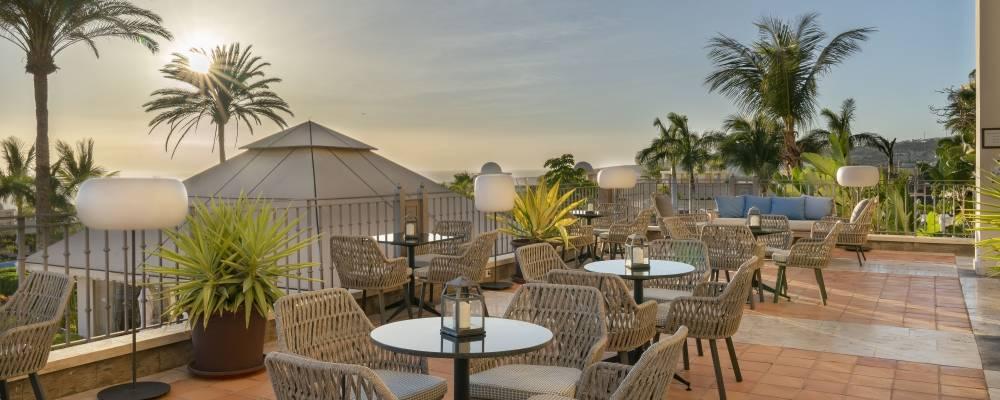 Terraza Sunset del hotel Vincci Selección Plantación del Sur 5 estrellas