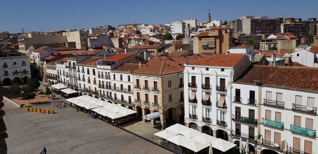 plaza mayor cáceres