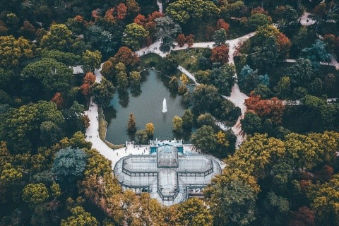 vista aerea palacio cristal madrid