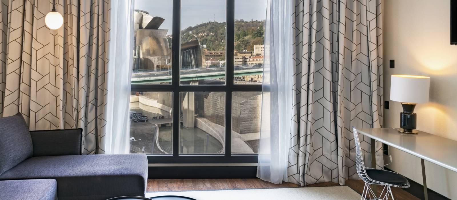 Vincci bilbao - Junior suite mit blick auf das Guggenheim-museum
