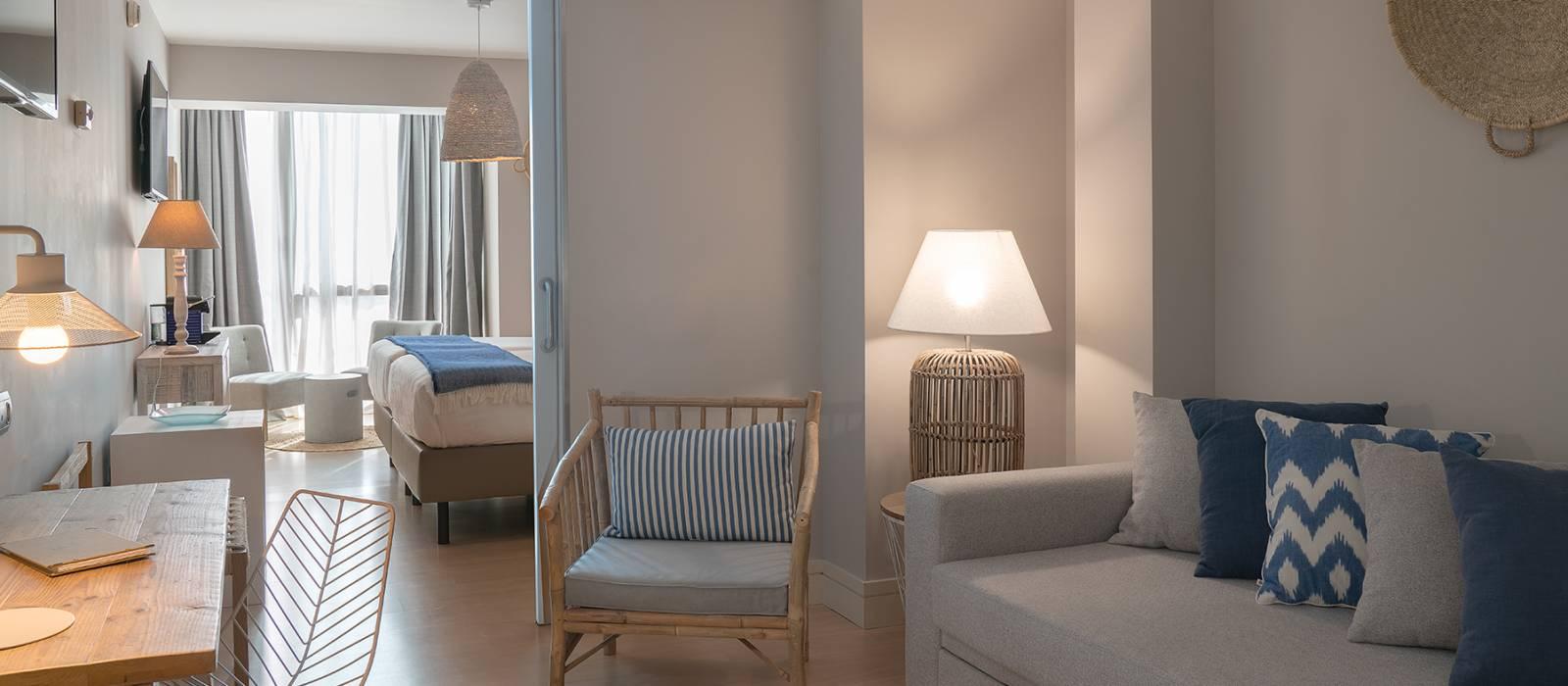Junior Suiten. Hotel Zimmer Puertosantander - Vincci Hoteles