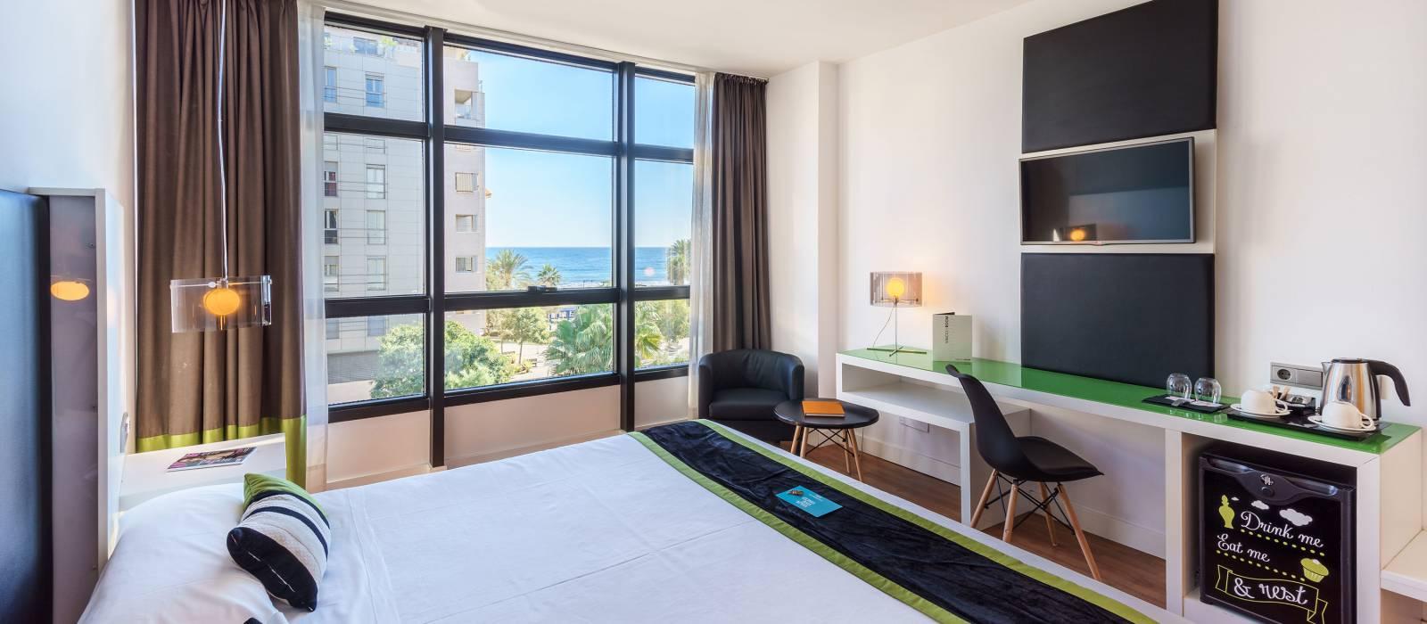 Chambre vue mer - Chambres Hôtel Malaga - Vincci Hoteles