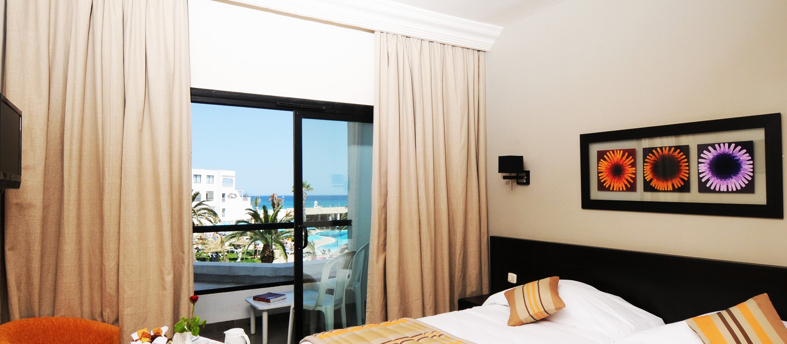 Chambres Hôtel Vincci Nozha Beach Hammamet - Double Chambre avec vue mer