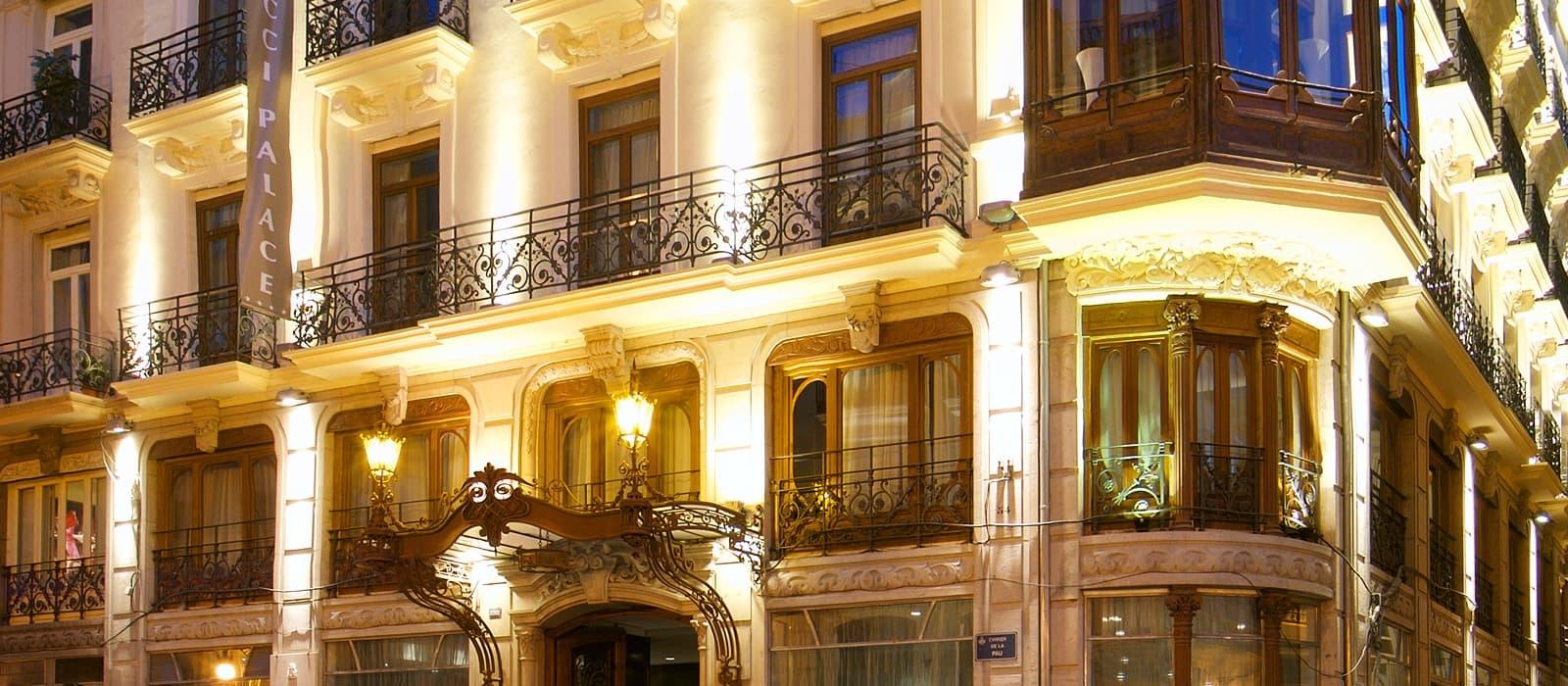 Hoteles Vincci. Das Hotel Vincci Palace liegt im Zentrum von Valencia