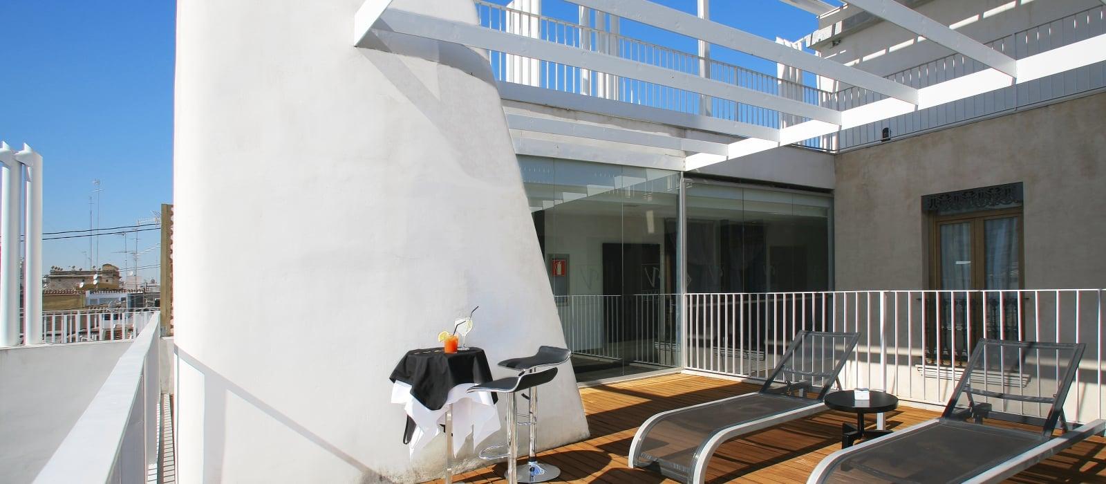 Solarium - Services Hôtel Valencia Palace - Vincci Hoteles
