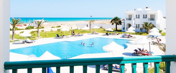 Doppelzimmer Meerblick. Hotel Helios Beach Djerba - Vincci Hoteles