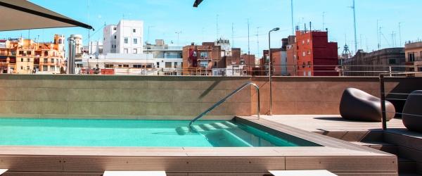 mini piscina con solarium -  Vincci Mercat 4*