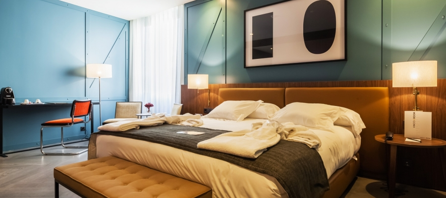 Chambre Double. Chambres Hôtel Porto - Vincci Hoteles