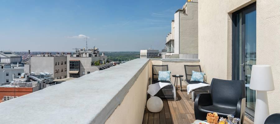 Habitaciones Hotel Madrid Capitol - Vincci Hoteles - Doble con Terraza