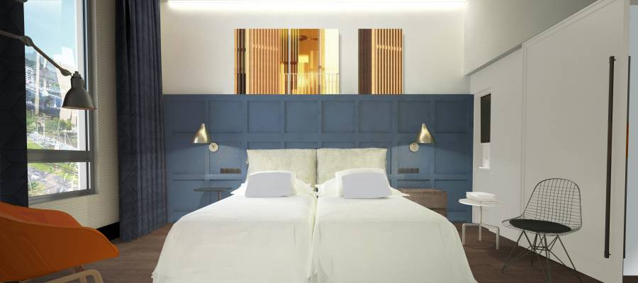 Habitacion doble ria - Hotel Vincci Consulado de Bilbao