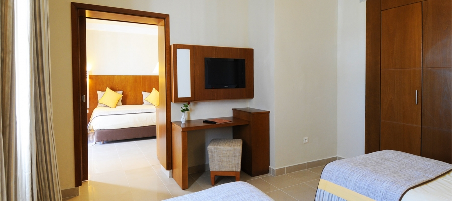 Familienzimmer mit Meerblick. Hotel Helios Beach Djerba - Vincci Hoteles