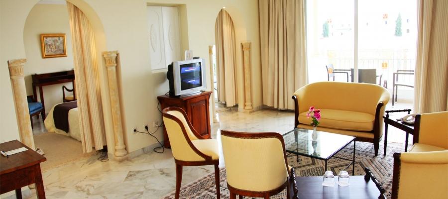 Junior Suiten. Übernachtung im Hotel Vincci Flora Park in Tunesien