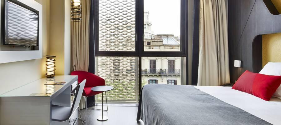 Habitación doble. Hotel Barcelona Gala - Vincci Hoteles