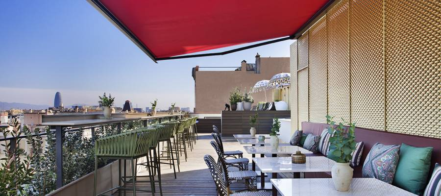 Services Hôtel Barcelone Gala - Vincci Hoteles - Terrasse-patio