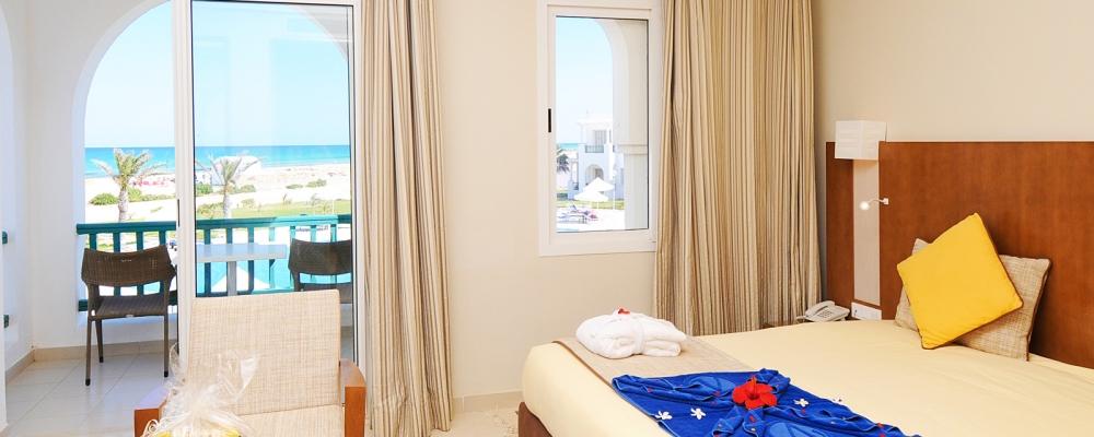 Chambres Hôtel Vincci Helios Beach Djerba - Double chambre avec vue mer