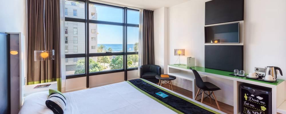 Habitaciones Hotel Málaga - Vincci Hoteles - Habitación vista Mar