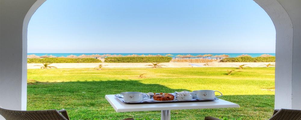 Chambres Hôtel Vincci Helios Beach Djerba - Chambre familiale vue sur Mer