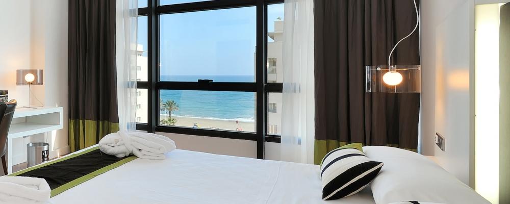 Zimmer mit Meerblick - Übernachtung im Hotel Vincci Malaga