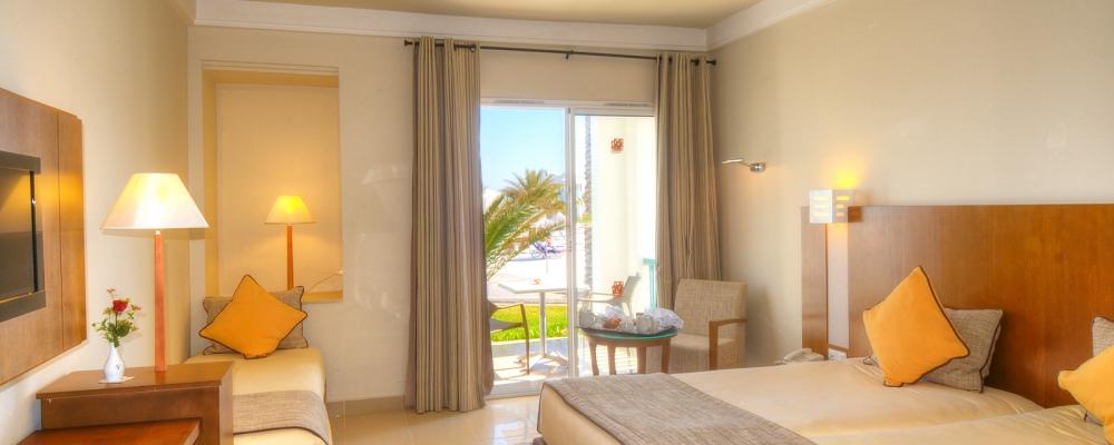 Habitación Triple Vista Mar - Vincci Hélios Beach | Túnez | Habitación